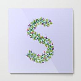 Leafy Letter S Metal Print
