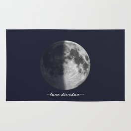 First Quarter Moon on Navy Latin Rug