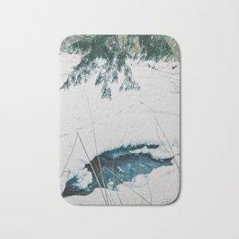 Frozen lake Bath Mat