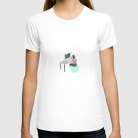 the office T-shirts featuring Office Bounce by Thoka Maer