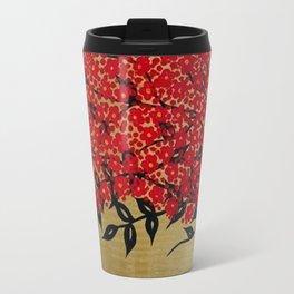 Cherry blossom flowers.. Travel Mug