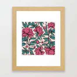 Sketchy Flowers Framed Art Print
