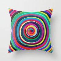 circus Throw Pillows featuring CIRCUS by THE USUAL DESIGNERS