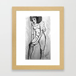 Semi Nude of Toulouse-Lautrec Framed Art Print