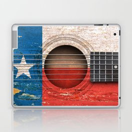 Old Vintage Acoustic Guitar with Texas Flag Laptop & iPad Skin