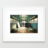 door Framed Art Prints featuring Emergency Door by Rachel Bellinsky