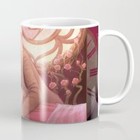 sleeping beauty Mugs featuring Sleeping Beauty by the-untempered-prism