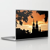 montreal Laptop & iPad Skins featuring Sunset in Old Montreal by Photos By Healy