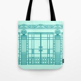 ART DECO, ART NOUVEAU IRONWORK: Blue Green Dream Tote Bag