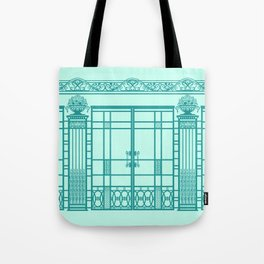 ART DECO, ART NOUVEAU IRONWORK: Blue Green Dream Tote Bag