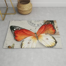 Vintage Butterfly Rug
