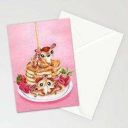 Three Pancake Deer Stationery Cards