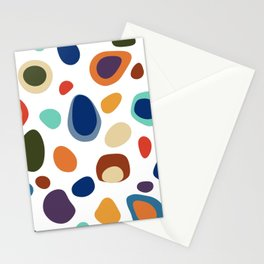 Terrazzo Abstract Pattern Stationery Cards