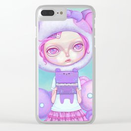 Pastel Harajuku Girl Clear iPhone Case