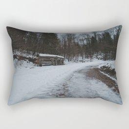 Insektenhotel Kühhude Im Winter Rectangular Pillow