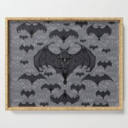 Balinese Bat - Haunted Mansion Damask Serving Tray