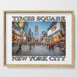 Times Square Sparkle (with typography) Serving Tray