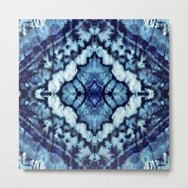 Tie Dye Linen Ikat Metal Print