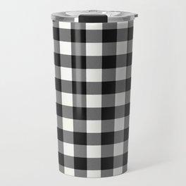 Black and White Country Buffalo check Travel Mug