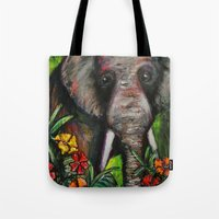 dumbo Tote Bags featuring Dumbo by Megan Bailey Gill