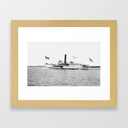 Ticonderoga Steamer on Lake Champlain Framed Art Print