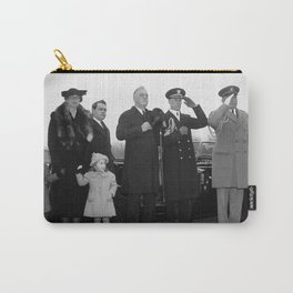 President Roosevelt Paying Tribute To Lincoln - 1938 Carry-All Pouch