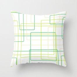 Green Line Pattern Throw Pillow