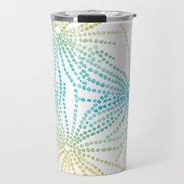Sand Stars - Blue & Yellow Travel Mug