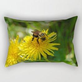 Bee on a Dandilion Rectangular Pillow