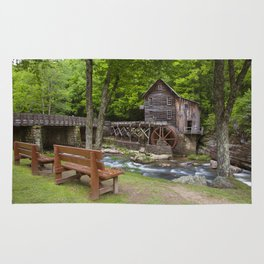 Glade Creek Grist Mill In Summer Rug