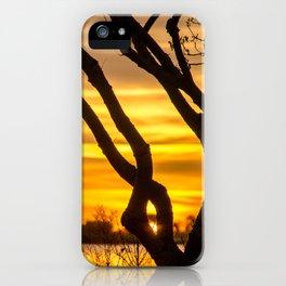 Tree Sunrise iPhone Case