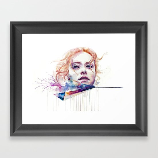 conspiracy of silence Framed Art Print
