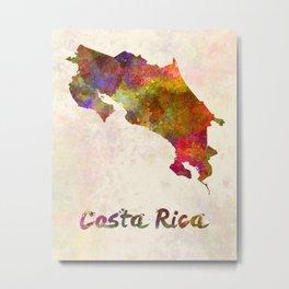 Costa Rica in watercolor Metal Print