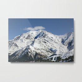 Mt. Blanc with clouds Metal Print