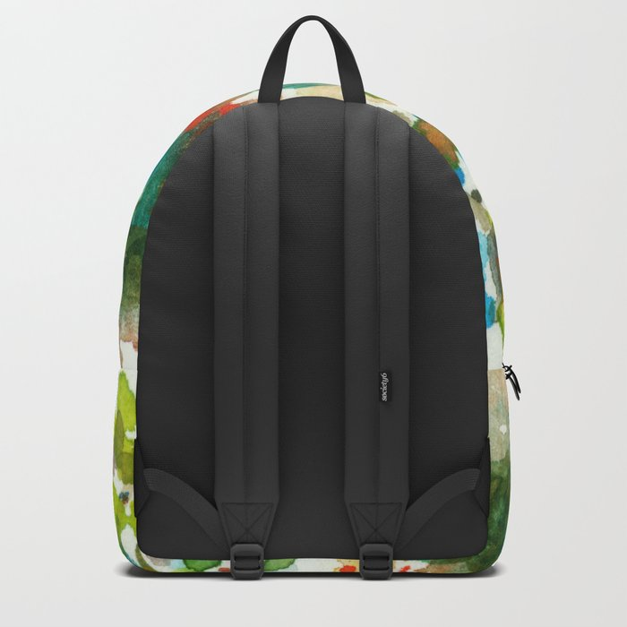 Silent Woods, Abstract Watercolors Landscape Art Backpack