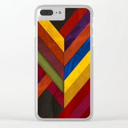 Abstract #279 Clear iPhone Case
