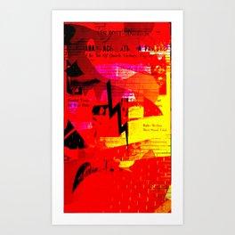 text bolt Art Print