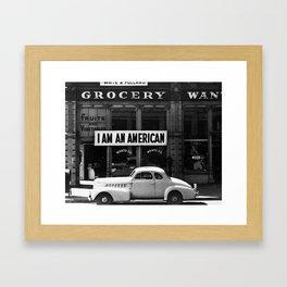 I Am An American Photo by Dorothea Lange Framed Art Print