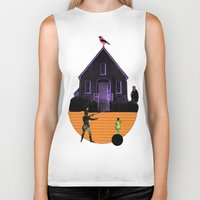 house Biker Tanks featuring HOUSE by MAR AMADOR