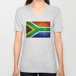 Flag of the Republic of South Africa Unisex V-Neck