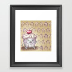 There is a Monster in my cupcake Framed Art Print