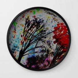 Twin Trees Wall Clock
