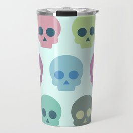 Colorful Skull Cute Pattern Travel Mug