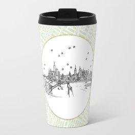 New York, New York City Skyline Illustration Drawing Travel Mug