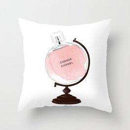 Red Perfume Globus Throw Pillow