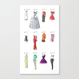 the Evolution of Womenswear Canvas Print