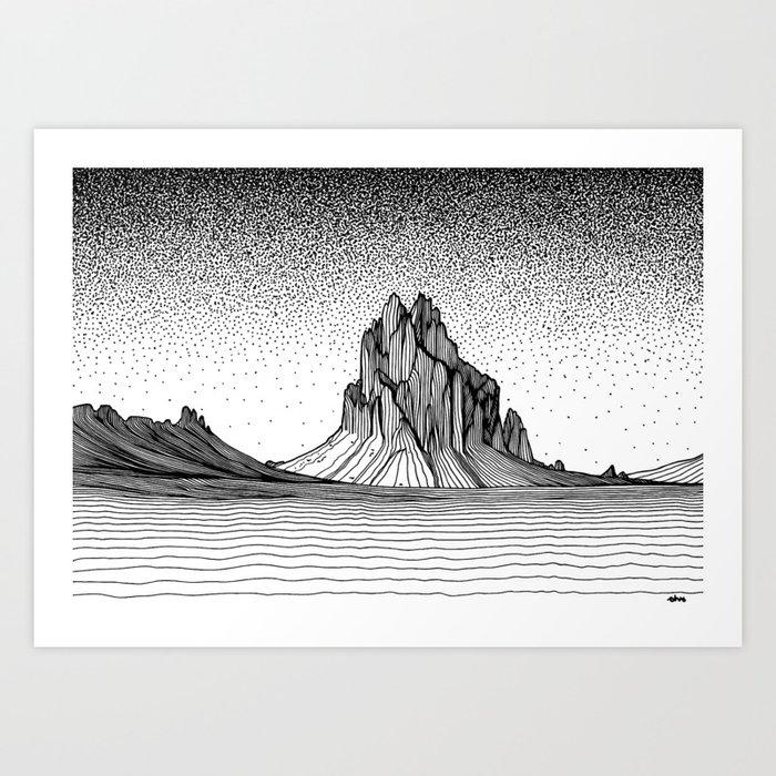 Shiprock Art Print