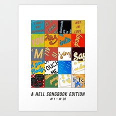 A Hell-Songbook-Edition Complete # 1 - 20 Art Print