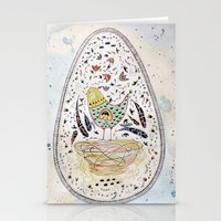 egg Stationery Cards featuring Egg by Infra_milk