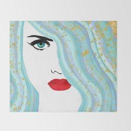 Francesca Has Mermaid Hair Throw Blanket